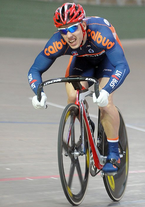 Track Cyclists in Skinsuits