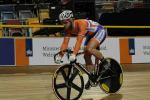 Track cyclists in lycra gear 10