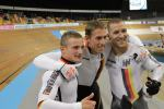 Track cyclists in lycra gear 15