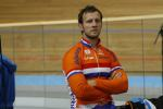 Track cyclists in lycra gear 18