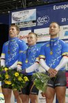 Track cyclists in lycra gear 27