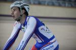 Track cyclists in lycra gear 35