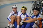 Track cyclists in lycra gear 37