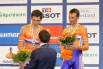 Track cyclists in lycra gear 47