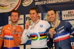 Track cyclists in lycra gear 49