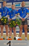 Track cyclists in lycra gear 57