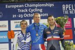 Track cyclists in lycra gear 6