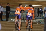 Track cyclists in lycra gear 65
