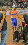 Track cyclists in lycra gear 67