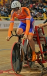 Track cyclists in lycra gear 71