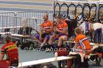 Track cyclists in lycra gear 78
